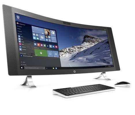 Curved Computer Displays - HP's 'Envy' Boasts a Wide 34-Inch Curved Screen with Incredible Graphics