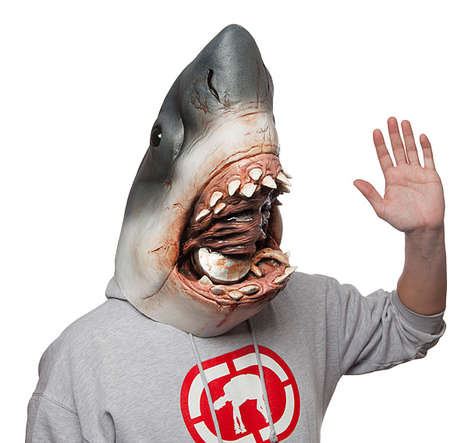Cinematic Shark Masks - This Mask Resembles the Villainous Monster Shark From the Movie 'Jaws'