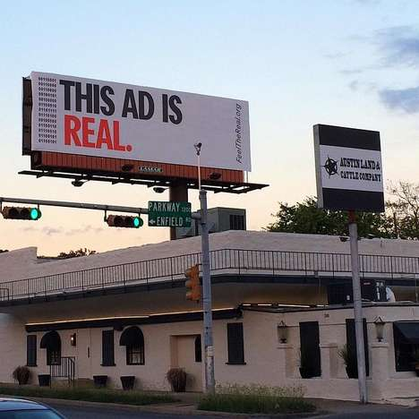Digital Engagement Poster Campaigns - OOH Advertising Initiative FeelTheReal is for Real Humans