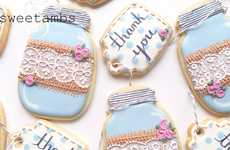 These Pretty Sugar Cookies are Decorated with Lace and Burlap Details