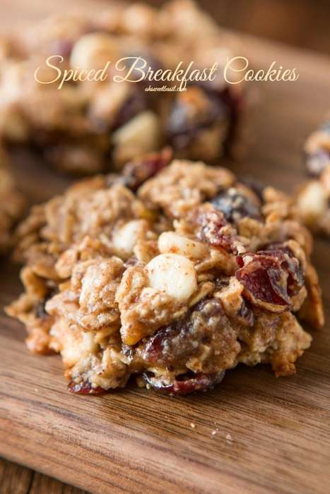 Spiced Breakfast Cookies - This Healthy Breakfast Cookies Recipe is Ideal for Cold Fall Mornings
