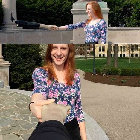 Hand-Shaking Selfie Sticks - These Selfie Stick Designs Look as Though You're Greeting Someone