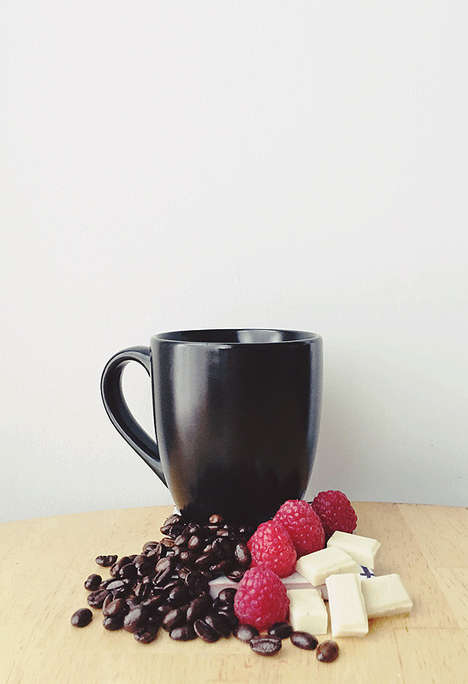 Fruity Chocolate Coffees - These Fragrant Chocolate Raspberry Coffee Bean Flavors are Sweet