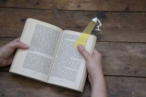 Reading Lamp Bookmarks - This Humorous Page Marker is Cleverly Designed to be a Mini Light