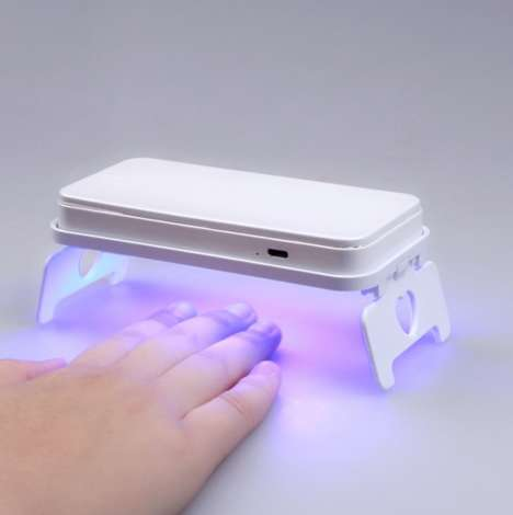 Manicure Phone Cases - This Smartphone Case Flips Out into a LED Nail Dryer for at Home Nail Art