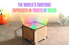 'MoodLight' Emits Twirls of Color Based on the Emotions of the World