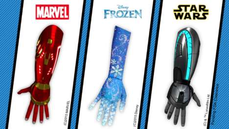 Bionic Cartoon Prosthetics - Open Bionics Updates it's Lineup with Prosthetics for Superhero Fans