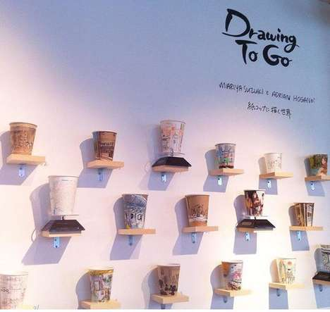 Paper Cup Art - This Artist Uses Coffee Cups as Canvases for Street Art