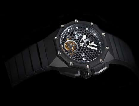 Geometrically Etched Watches - The X-Frame Mechanical Watch Features Machine-Sculpted Components