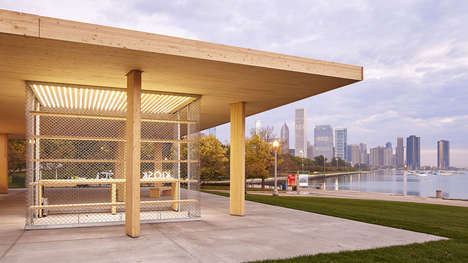Modern Outdoor Kiosks - These Re-Imagined Hotdog Stands Will Be Permanent Fixtures in Chicago