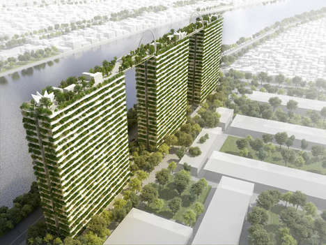 Connected Rooftop Gardens - This Elevated Garden Spans the Gaps Between Skyscrapers