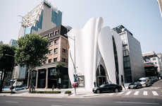 Garment-Like Sculptural Shops - Seoul's Christian Dior Couture Store Mimics the Designer's Clothing