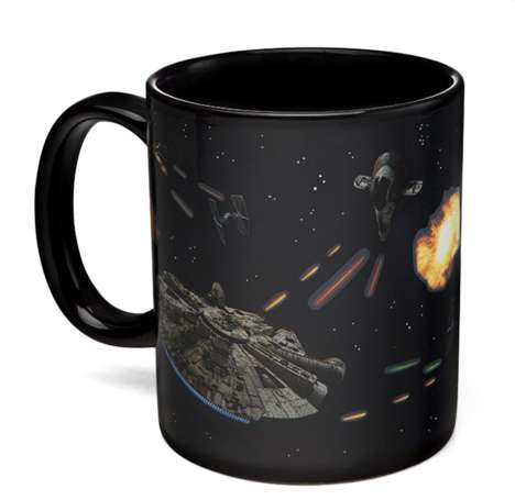Heat-Sensitive Sci-Fi Mugs - The Star Wars Battle Scene Heat Change Mug is Out of This World