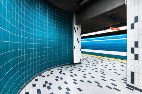 Artist-Adorned Subway Stations - Chris Forsyth Captures Montreal's Gallery-Like Metro Stations