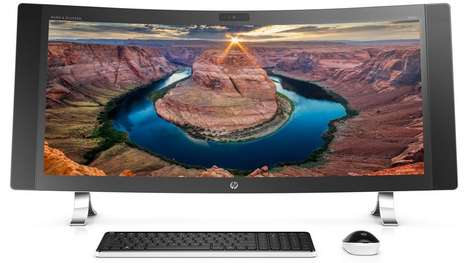 Gigantic Curved Computers - The HP Envy Curved is the World's Widest Curved All-In-One Computer