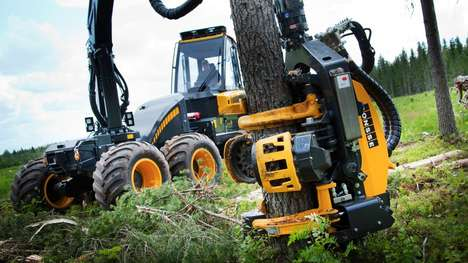 Monstrous Lumberjack Machines - The Ponsse Ergo 8w Rips Trees Out Of the Ground With Disdain
