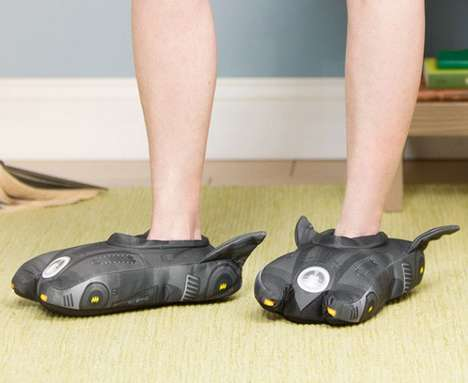 Vigilante Vehicle Footwear - These Batmobile Slippers Will Help Keep Your Feet Toasty Warm