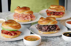 Dippable Pretzel Rolls - These Savory Sandwiches Come with a Dipping Sauce on the Side