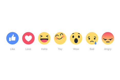 Empathetic Reaction Emojis - Facebook Introduced a Series of Reaction Buttons That Show Empathy