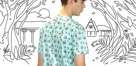 Anime Film Apparel - This Studio Ghibli Clothing Line Uses Images from Six Famous Animated Films