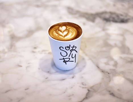 Ever-Evolving Cafe Logos - The Sorry Coffee Co Uses Its Cups as Blank Canvases for Local Designers