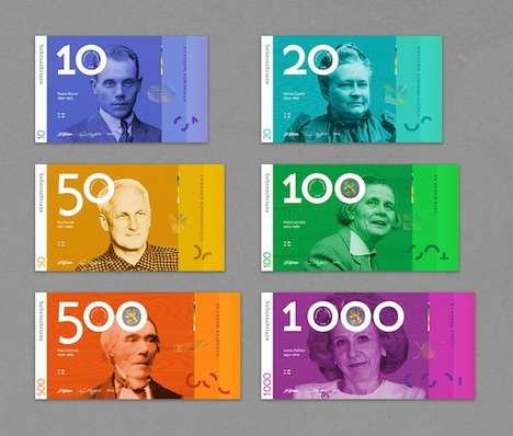 Gender Equality Currencies - The New Finnish Notes Feature a Design that Embraces Male and Female