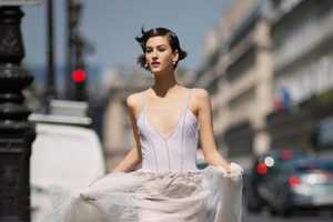 Athena Wilson Walks Her Dog in a Wedding Gown in This Nonchalant Shoot