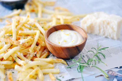 Herby Truffle Fries - These Rich Rosemary and Parmesan French Fries are an Upscale Side Dish