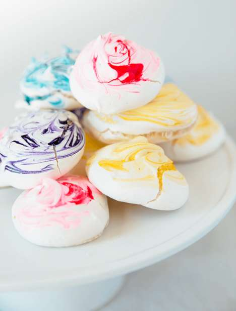 Colorful Meringue Desserts - These Sweet Treats Provide a Lighter Alternative to Heavy Desserts