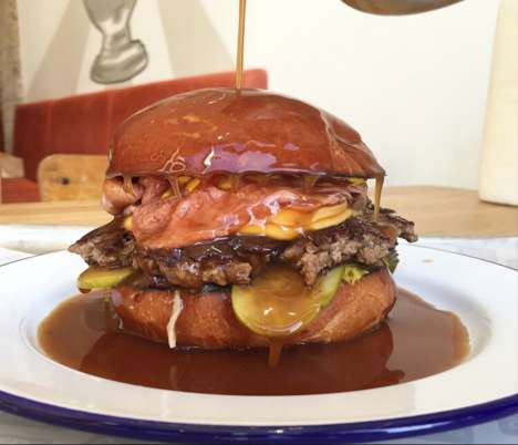 Gravy-Drenched Hamburgers - This London Burger Joint Serves Juicy Sandwiches with Extra Gravy