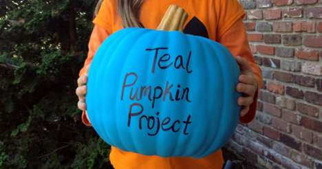 Allergy-Awareness Initiatives - The 'Teal Pumpkin Project' Discourages Handing Out Halloween Candy