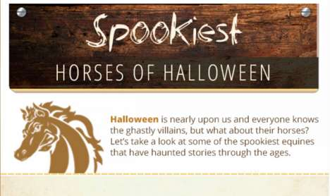 Spooky Equine Charts - This Infographic Chronicles the Scariest Horses of Halloween