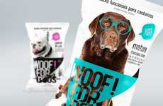 WOOF! FOR DOGS is a Line of Snack Foods for Canine Companions