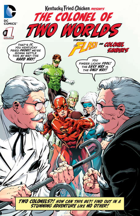 Fast Food Comic Books - KFC and DC Comics Made Colonel Sanders a Comic Book Character