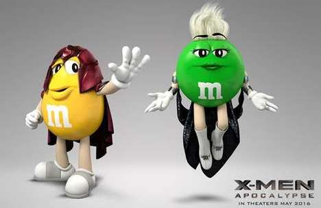 Mutant Superhuman Candies - This Campaign Re-Imagines M&Ms as the Official Candy of the X-Men Movie