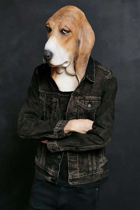 Lifelike Hound Disguises - This Basset Hound Mask is an Easy Disguise That is Sure to Impress