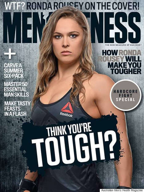 Gender-Bending Fitness Editorials - This Issue of Men's Fitness Australia Features Ronda Rousey