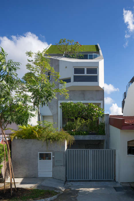 Triple-Tiered Garden Homes - This Multi-Level Organic Abode Creates Openness Within Small Quarters