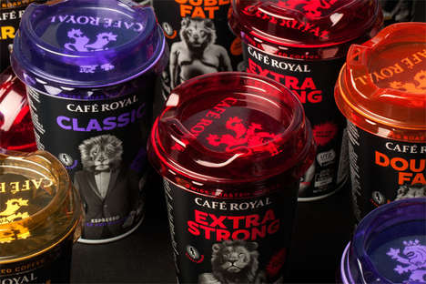 Wildcat Coffee Labels - These Ice Coffees are Labeled with Clever Lion-Human Hybrids