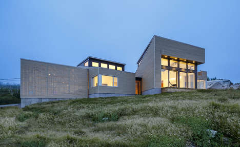 Sculptural Topographic Abodes - This Nova Scotian Home is Built Around Natural Rock