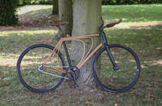 Shock-Absorbant Wooden Bikes