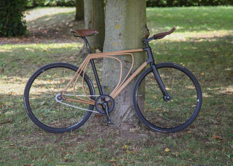 Shock-Absorbant Wooden Bikes - This Resilient Bicycle Has a Spring Effect on Uneven City Roads
