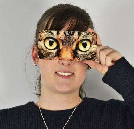 Impressional Feline Phone Cases - This Cat Eyes iPhone Case Brings Goofiness to Your Device