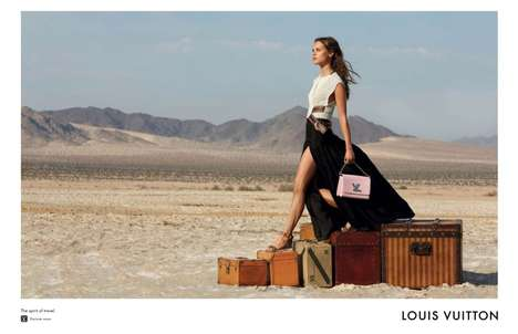 Wanderlust Fashion Ads - The Louis Vuitton FW15 Campaign Focuses on the 'Spirit of Travel'