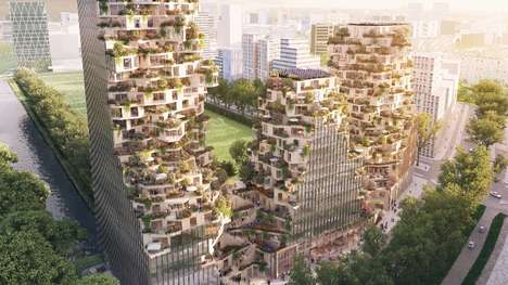 Greenery-Embracing Buildings - The Ravel Plaza Complex Will Feature Large Balconies With Vegetation