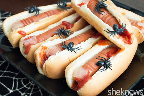 25 Terrifying Halloween Foods - From Gruesome Hot Dog Fingers to Blood Splatter Cookies