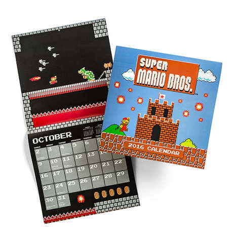 Geeky 8-Bit Calendars - This Super Mario Brothers Classic 2016 Wall Calendar is Pure Retro Goodness