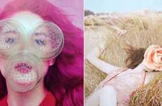 Objectified Fashion Portraits - Frederique Daubal Juxtaposes 3D Elements on 2D Photographs