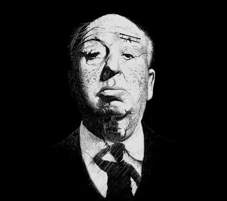Vintage Horror Movie T-Shirts - This Alfred Hitchcock T-Shirt Contains Hidden Images From His Films