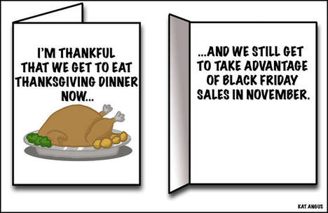Canadian Thanksgiving Cards - These Tongue-in-Cheek Greeting Cards are Made for Canada's Fall Feast